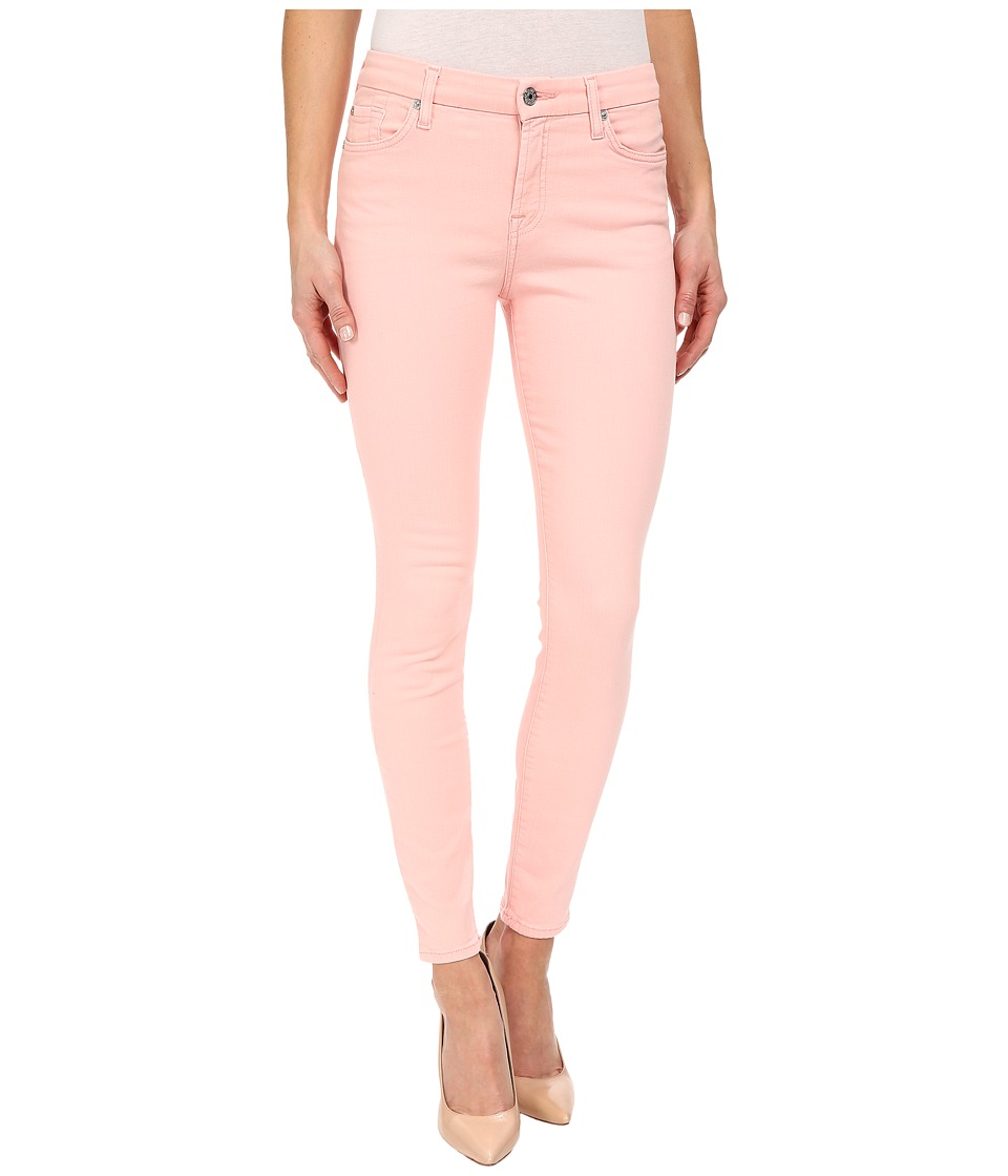 7 For All Mankind - The Mid Rise Ankle Skinny in Strawberry Ice (Strawberry Ice) Women's Jeans