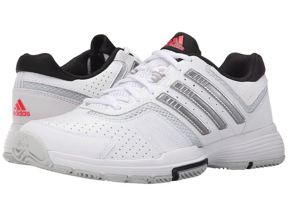 adidas - Barricade Court 2 (White/Matte Silver/Black) Womens Shoes