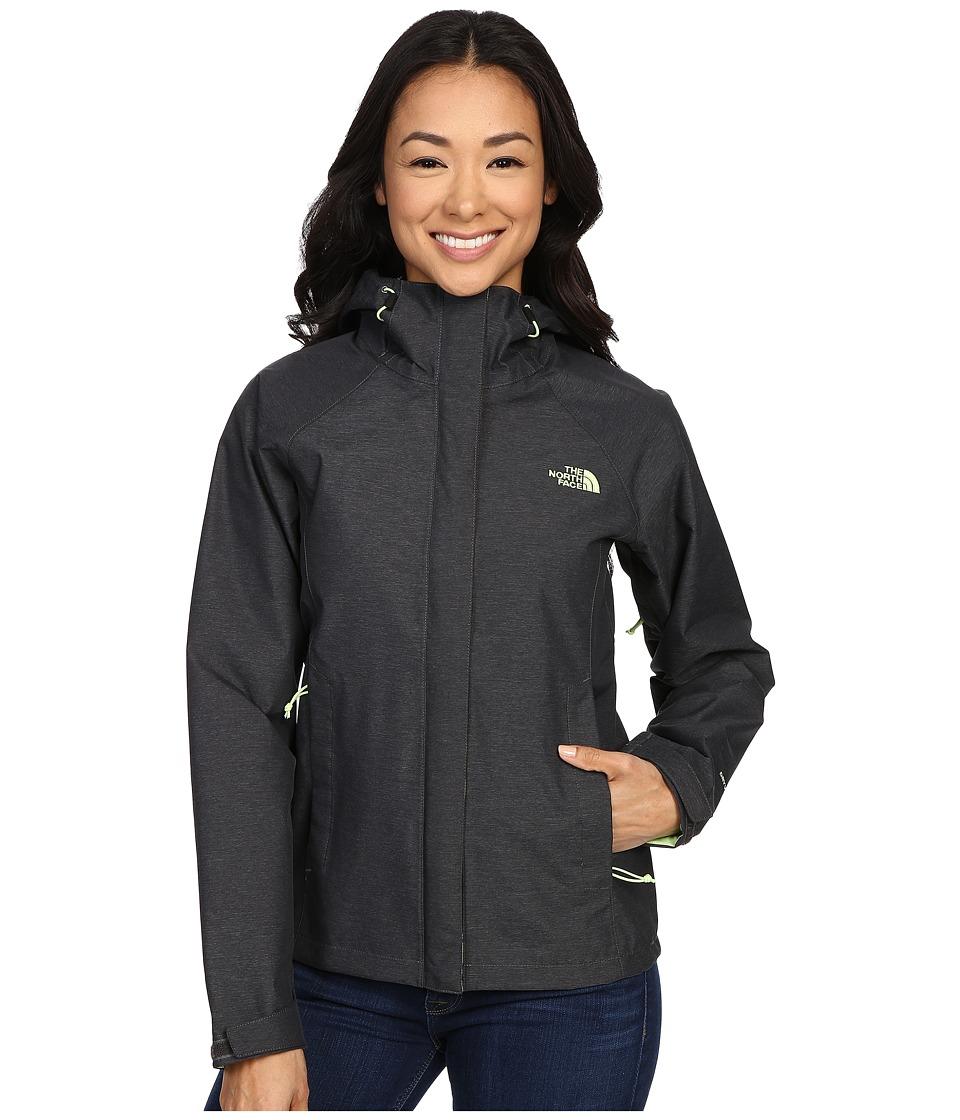 The North Face Venture Jacket (TNF Dark Grey Heather/Budding Green) Women