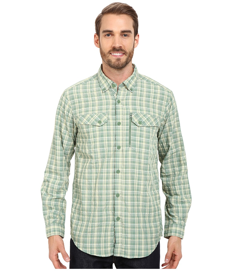 ExOfficio Sol Cool Cryogen Plaid Long Sleeve Shirt Hops Mens Long Sleeve Button Up