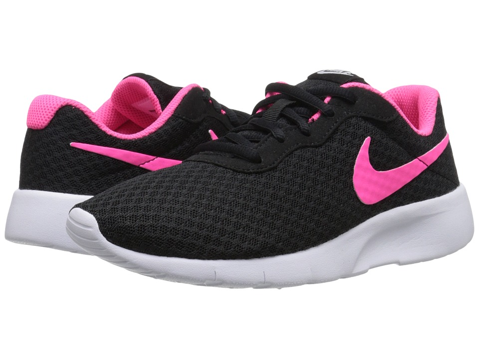 Nike Kids Tanjun (Big Kid) (Black/White/Hyper Pink) Girls Shoes