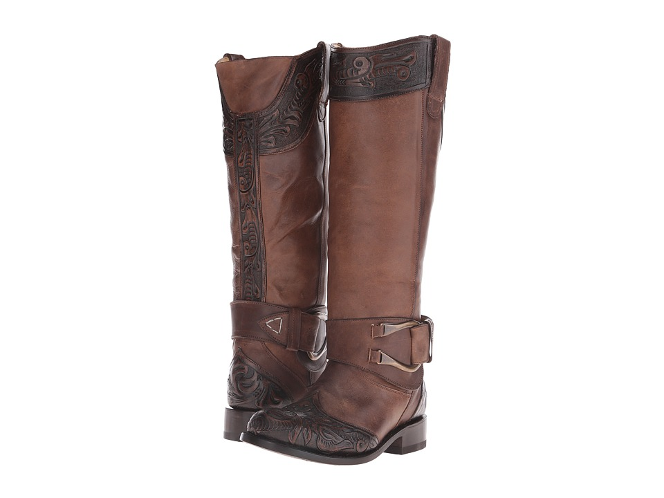 Stetson - Paisley (Brown Vamp) Cowboy Boots