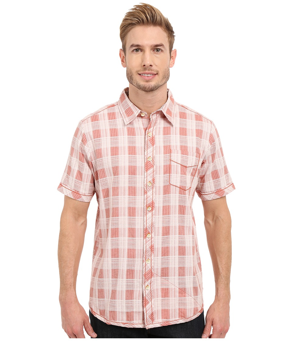 Ecoths Deacon Short Sleeve Shirt Langoustino Mens Short Sleeve Button Up