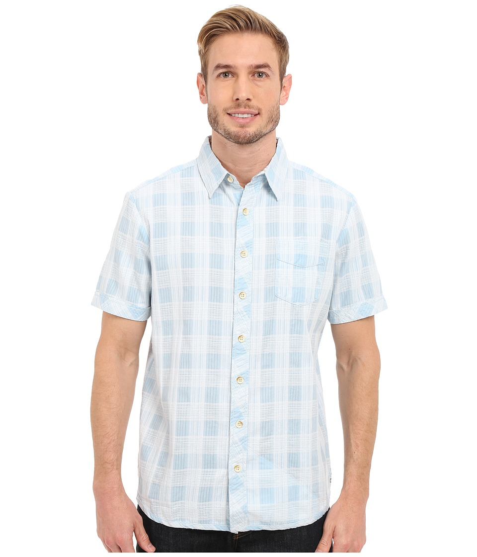 Ecoths Deacon Short Sleeve Shirt Light Blue Mens Short Sleeve Button Up