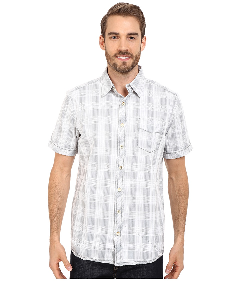 Ecoths Deacon Short Sleeve Shirt Silver Blue Mens Short Sleeve Button Up