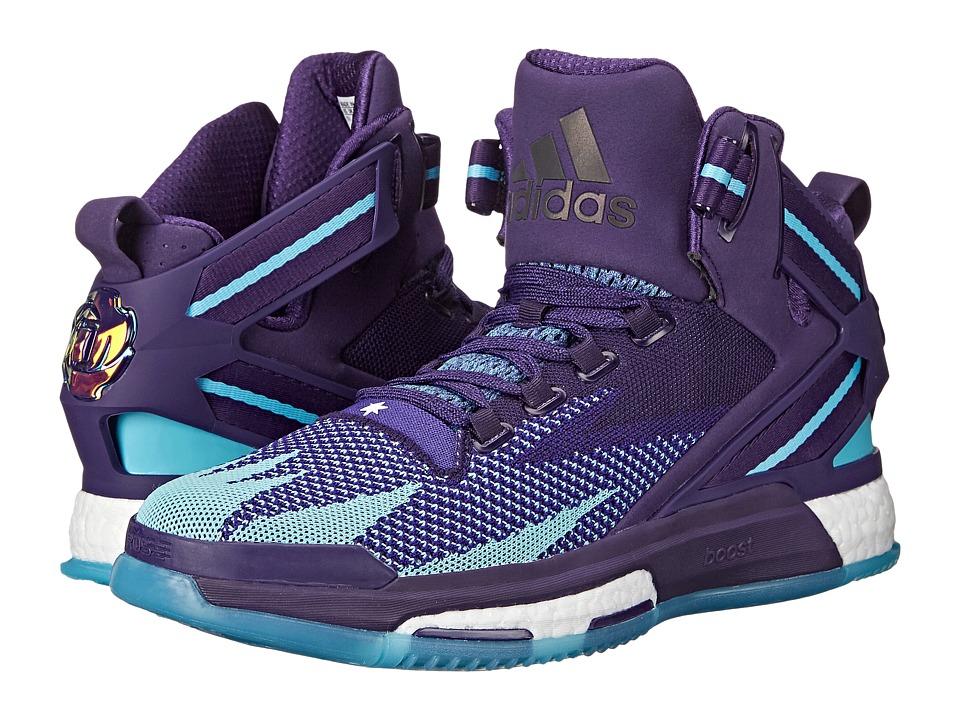adidas - Derrick Rose 6 Boost (Purple/Purple/Shock Pink) Mens Basketball Shoes