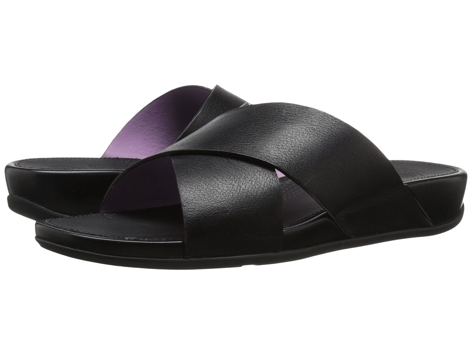 FitFlop Aix Slide All Black Womens Sandals