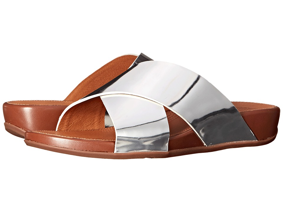 FitFlop Aix Slide Silver Womens Sandals