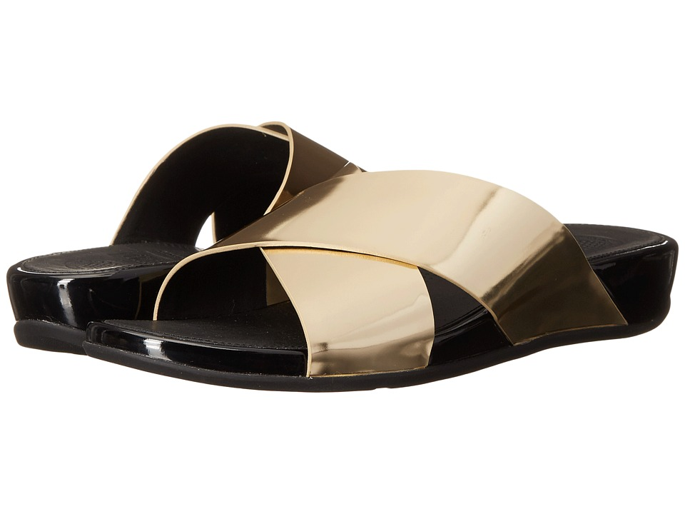 FitFlop Aix Slide Pale Gold Womens Sandals