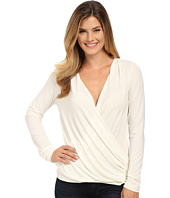 Bobeau - Cross Front Long Sleeve Knit Top