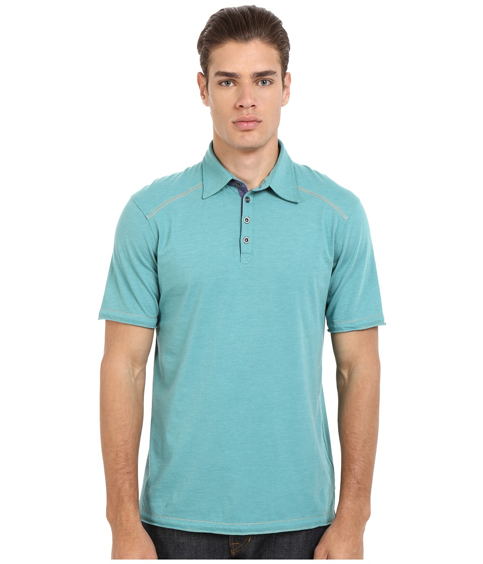 Ecoths Garrick Polo Teal Mens Short Sleeve Pullover