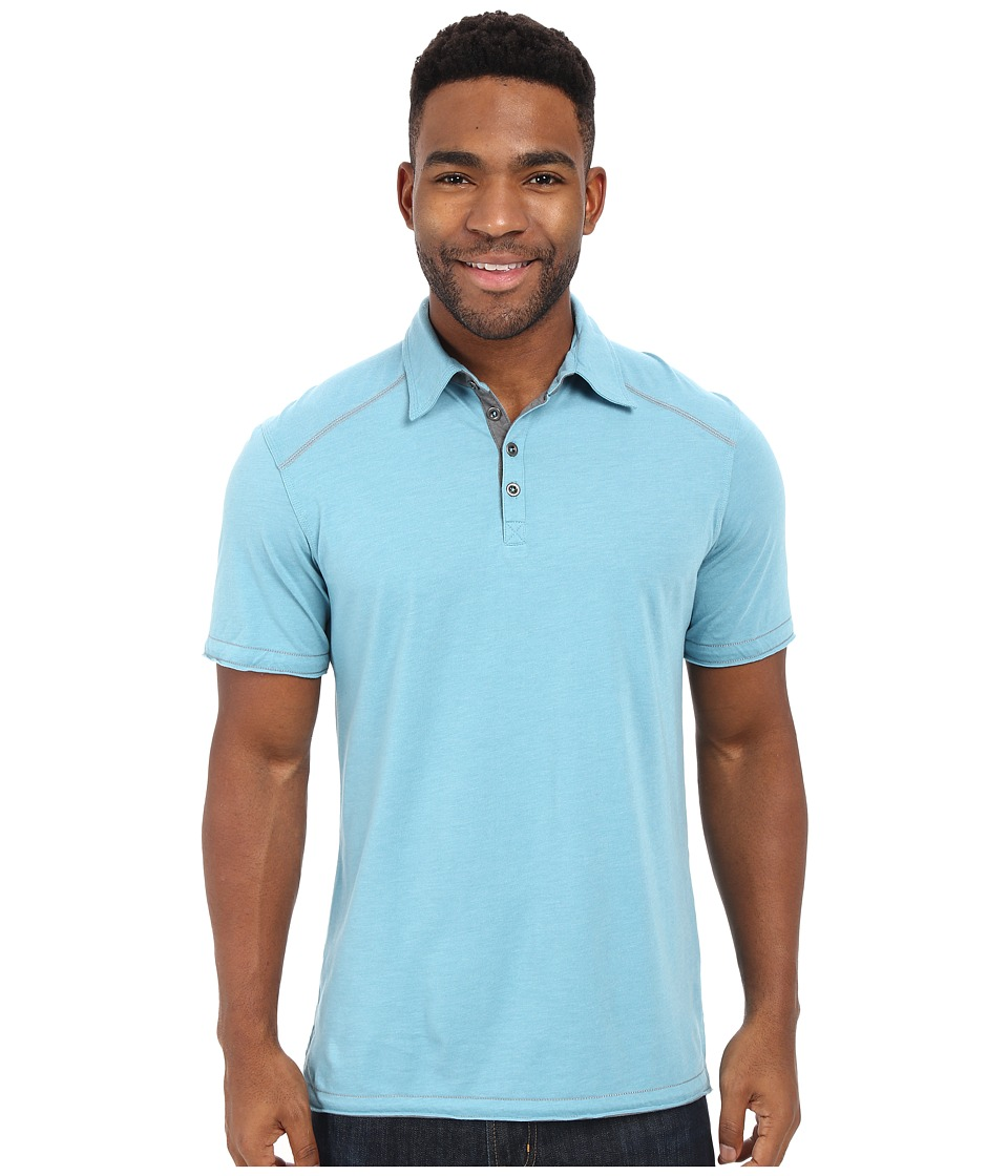 Ecoths Garrick Polo Glacier Blue Mens Short Sleeve Pullover