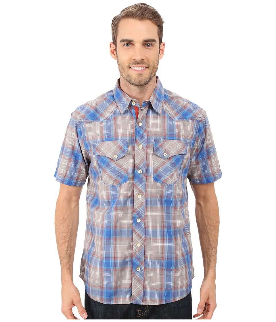 Ecoths Finn Short Sleeve Shirt Frosty Grey Mens Short Sleeve Button Up
