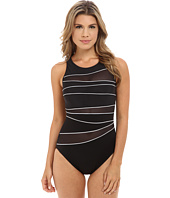 Miraclesuit - Network Piped High Neck One-Piece