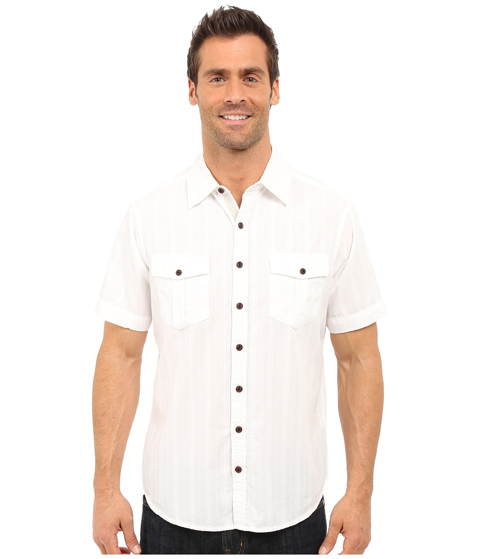 Ecoths Gunnar Short Sleeve Shirt White Mens Short Sleeve Button Up