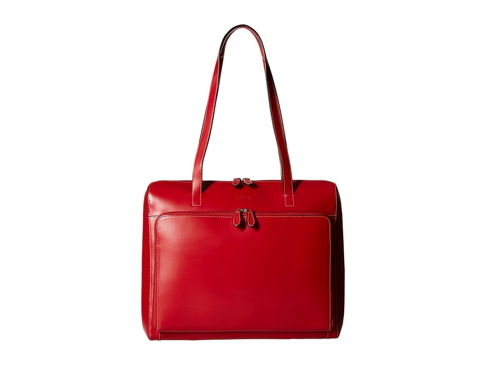 Lodis Accessories - Audrey Zip Top Tote w/ Organization (Red) Tote Handbags