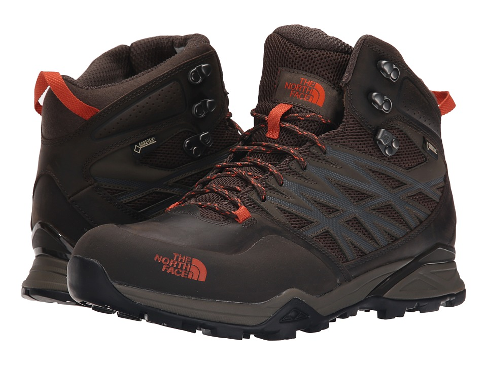 The North Face - Hedgehog Hike Mid GTX (Morel Brown/Orange Rust) Men