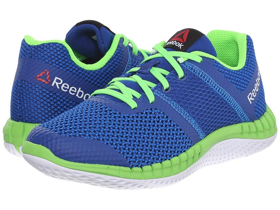 Reebok Kids - Zprint Run (Big Kid) (Blue Sport/Collegiate Royal/Solar Green/White) Boys Shoes