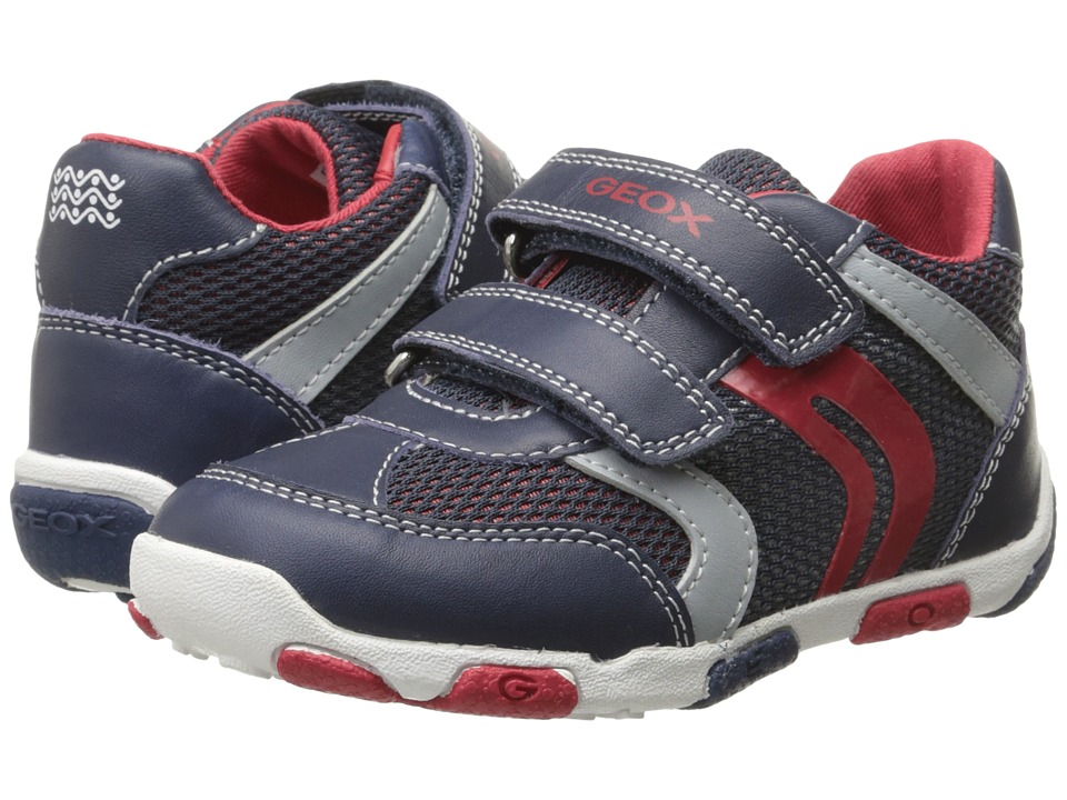 Geox Kids Baby Balu Boy 52 Infant/Toddler Navy/Red Boys Shoes