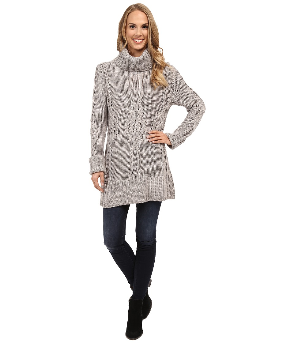 Image of B Collection by Bobeau - Cable Knit Sweater (Charcoal Grey) Women's Sweater