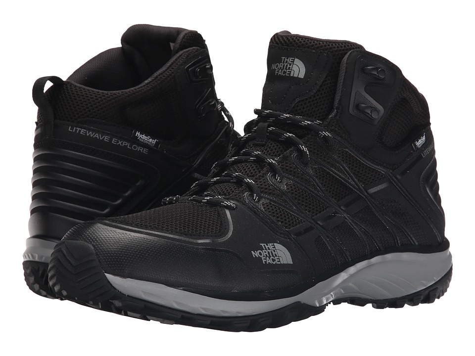 The North Face - Litewave Explore Mid WP (TNF Black/Metallic Silver) Men