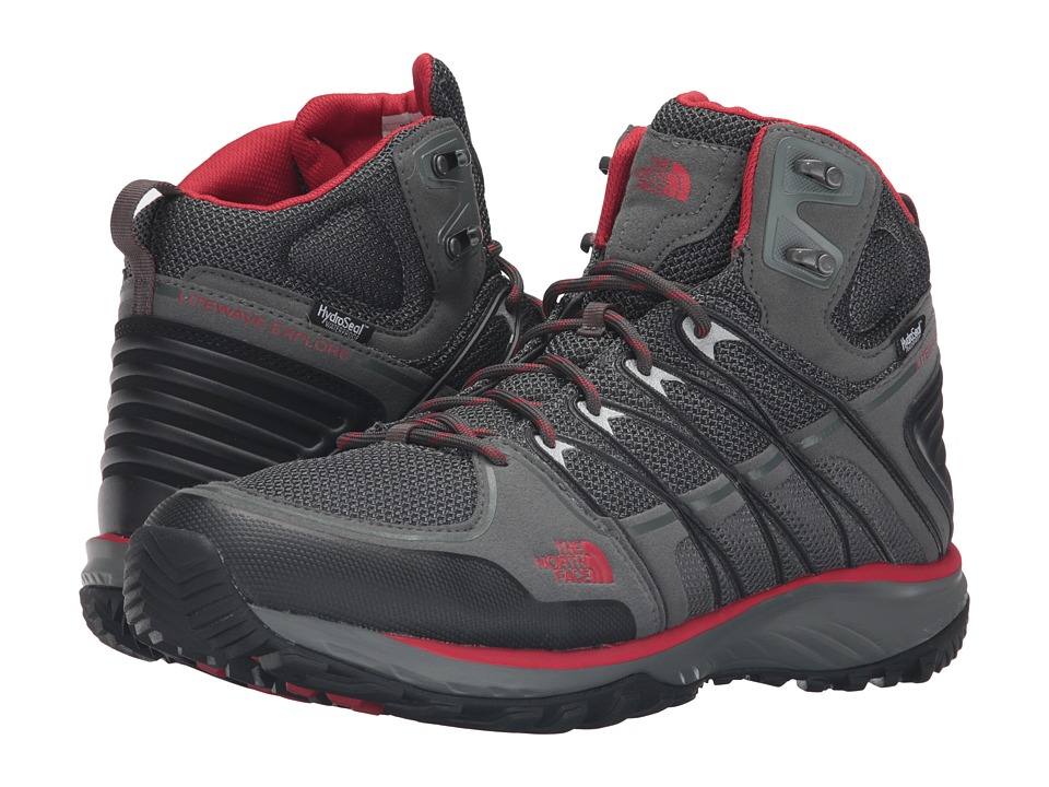 The North Face Litewave Explore Mid WP (Sedona Sage Grey/Pompeian Red) Men