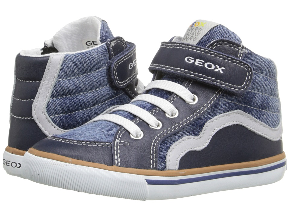 Geox Kids Baby Kiwi Boy 66 Toddler 1 Jeans/Grey Boys Shoes