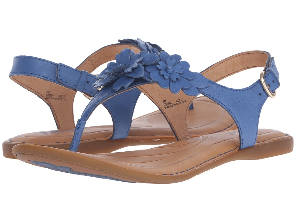 Born DAnna Blue Full Grain Leather Womens Sandals