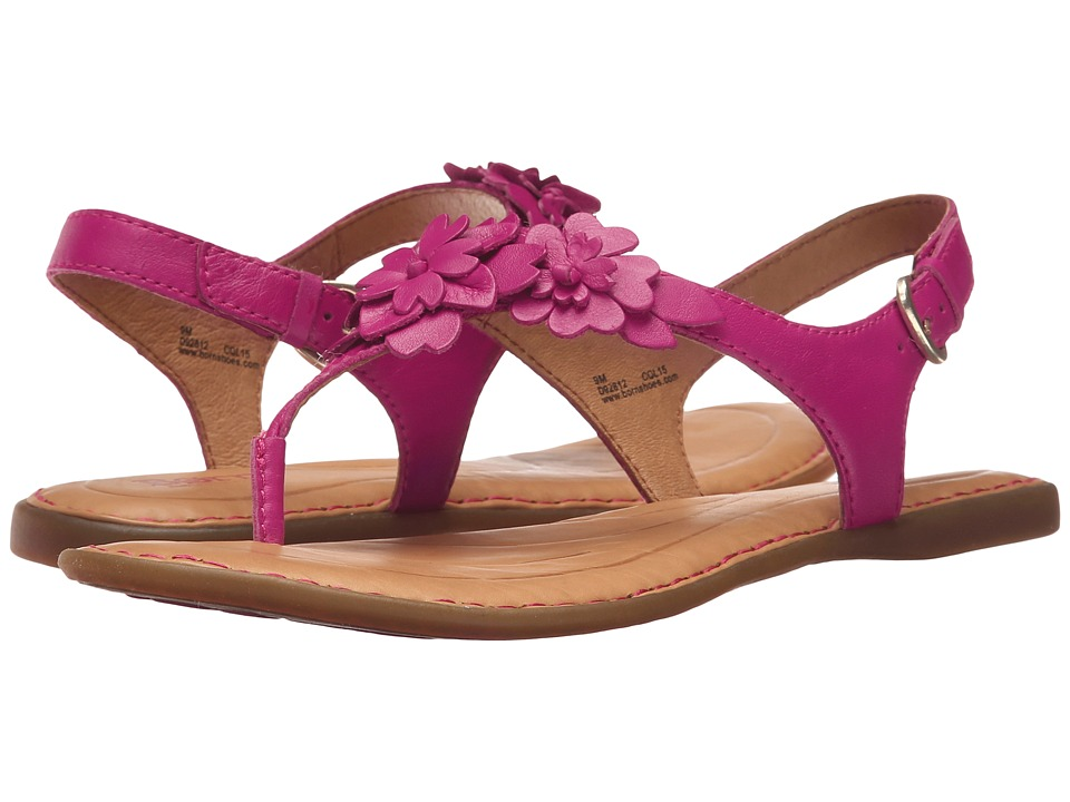 Born DAnna Fuchsia Full Grain Leather Womens Sandals