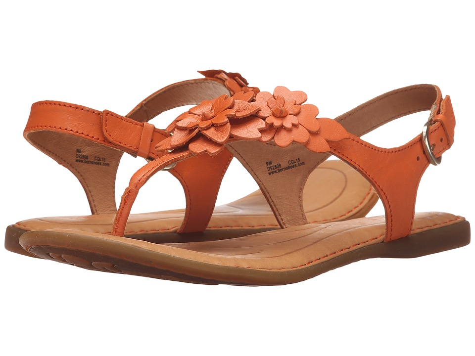 Born DAnna Orange Full Grain Leather Womens Sandals