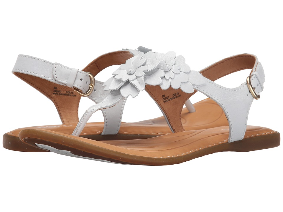 Born DAnna Bianco Full Grain Leather Womens Sandals