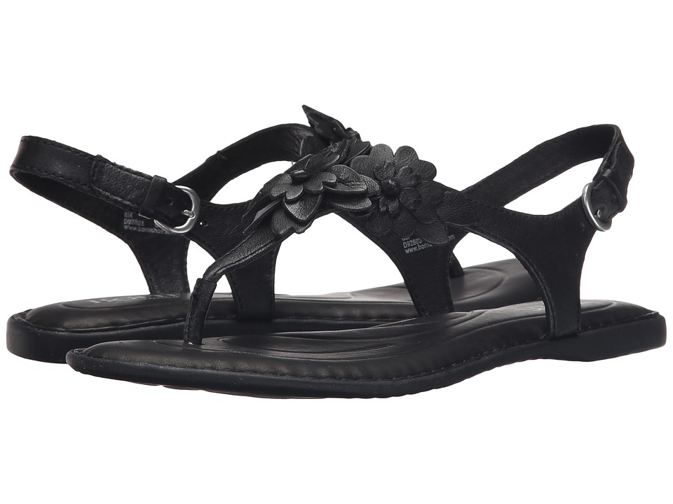 Born DAnna Black Full Grain Leather Womens Sandals