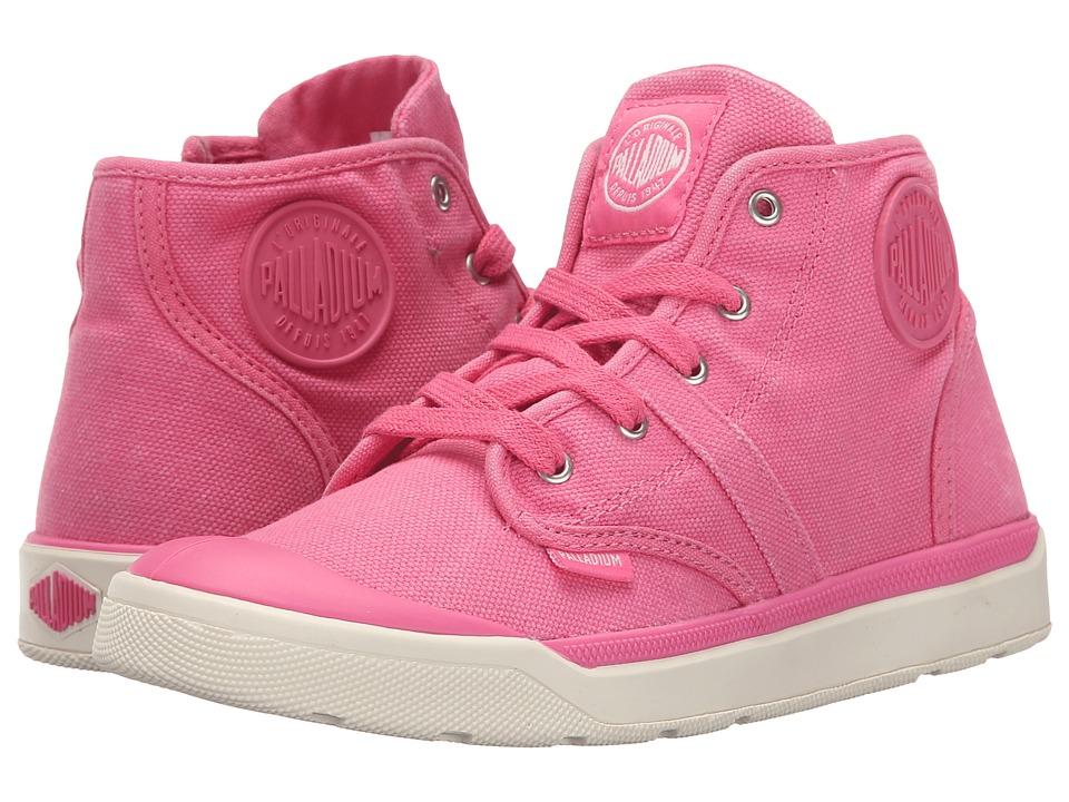 Palladium Kids Pallarue Hi Zip CVS Little Kid Pink Lemonade/Marshmallow Girls Shoes