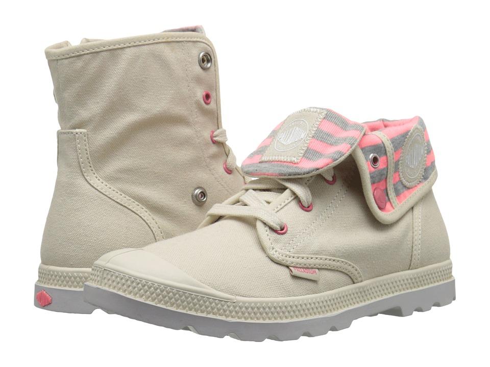Palladium Kids Baggy Zipper CVS LP Little Kid Ivory/Sunkist Coral/Vapor Girls Shoes