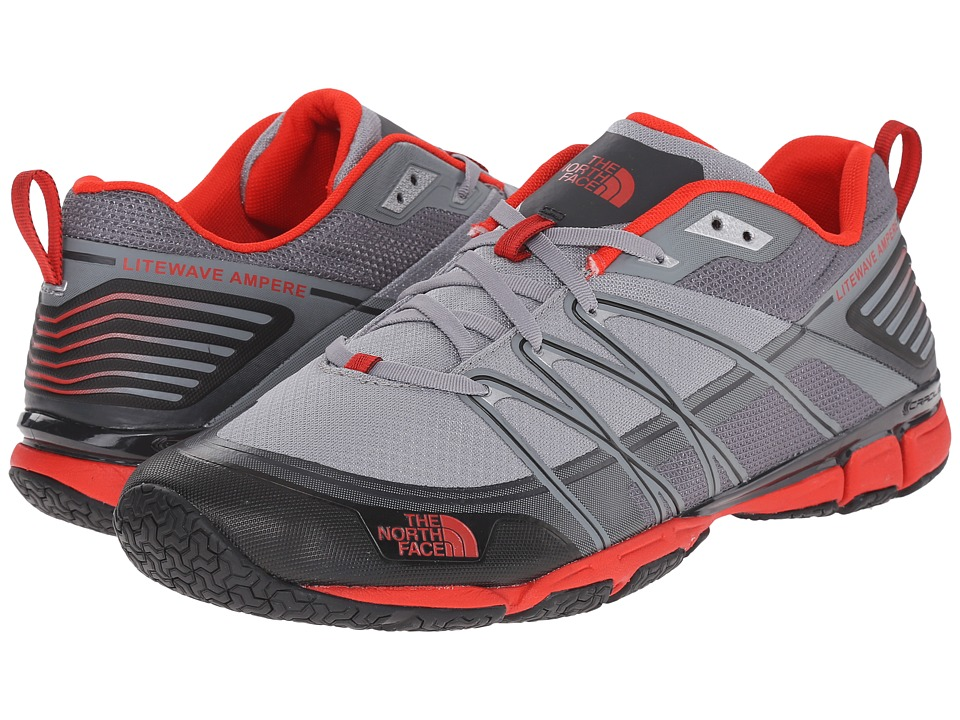 The North Face - Litewave Ampere (Monument Grey/Fiery Red) Men