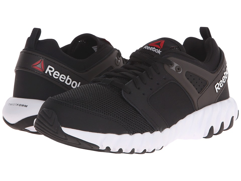 Reebok Kids - Twistform 2.0 (Big Kid) (Black/White) Boys Shoes