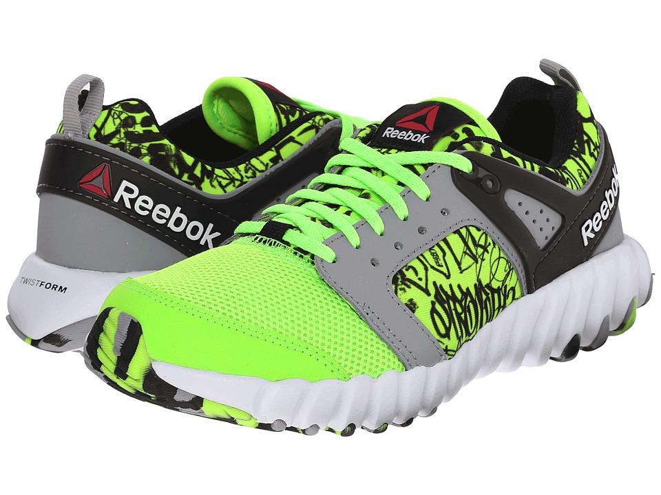 Reebok Kids - Twistform 2.0 (Big Kid) (Solar Green/Tin Grey/Shark/Black/White) Boys Shoes