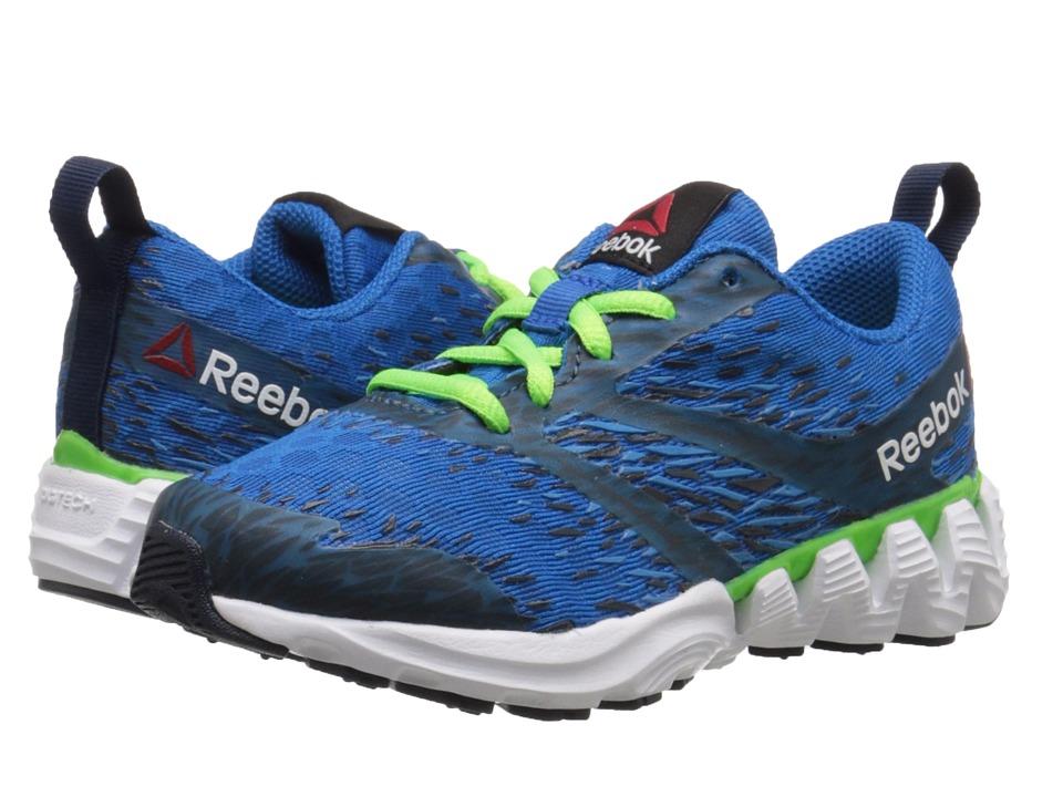 Reebok Kids - Zigkick Sierra (Little Kid) (Blue Sport/Electric Blue/Navy/Solar Green/White) Boys Shoes