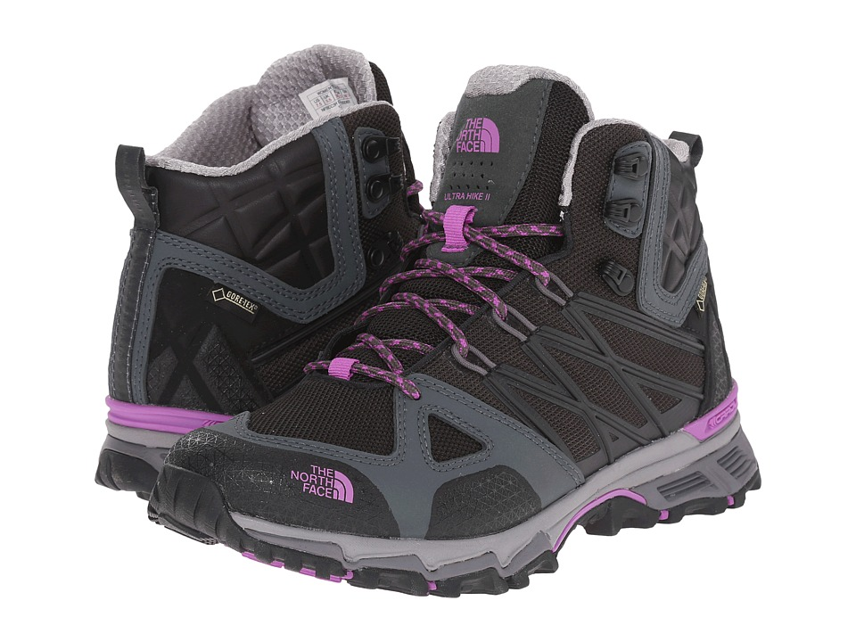 The North Face - Ultra Hike II Mid GTX (TNF Black/Sweet Violet) Women