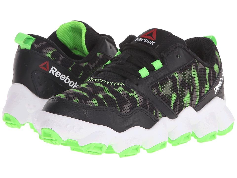 Reebok Kids ATV19 3.0 Little Kid Black/Solar Green/Alloy/Tin Grey/White Boys Shoes