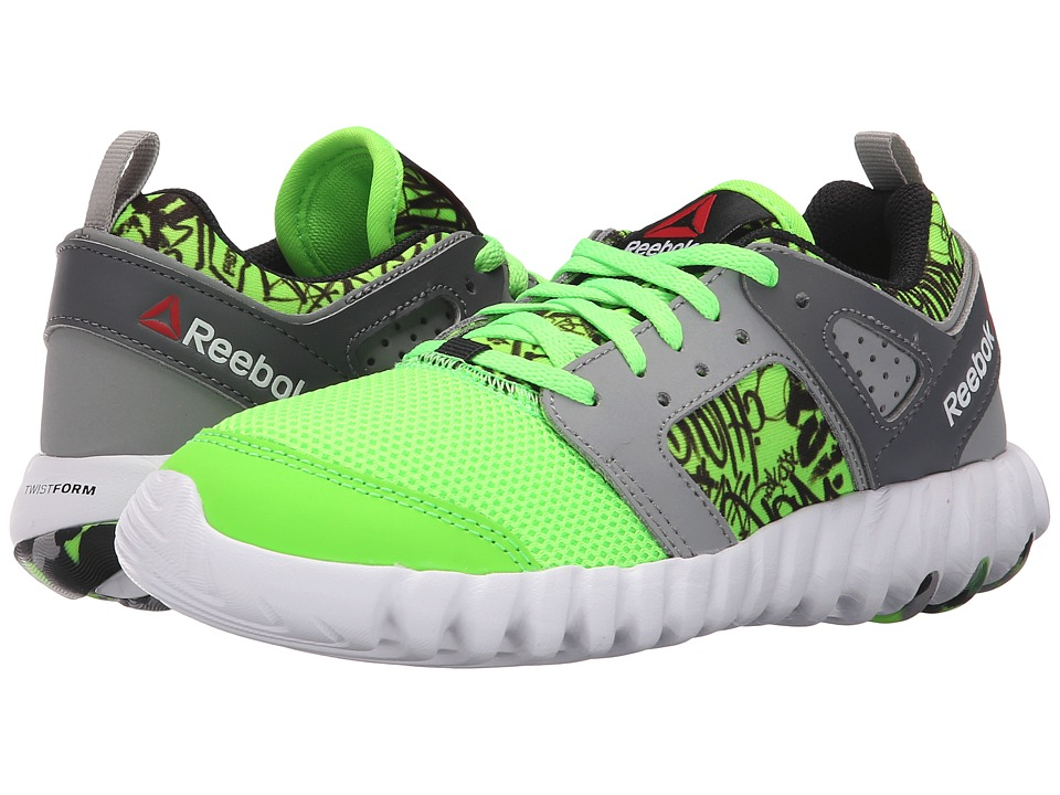 Reebok Kids - Twistform 2.0 (Little Kid) (Solar Green/Tin Grey/Shark/Black/White) Boys Shoes