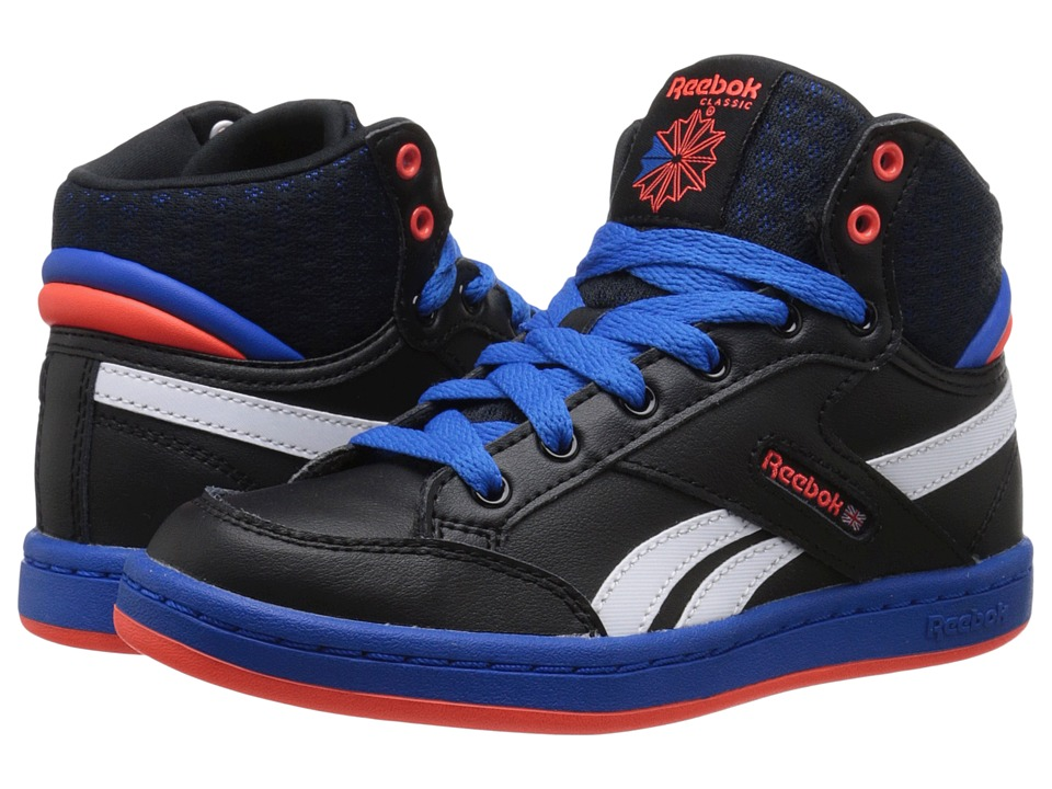 Reebok Kids - Classic Arena Pro Mid (Little Kid) (Black/Blue Sport/Atomic Red/White) Boys Shoes