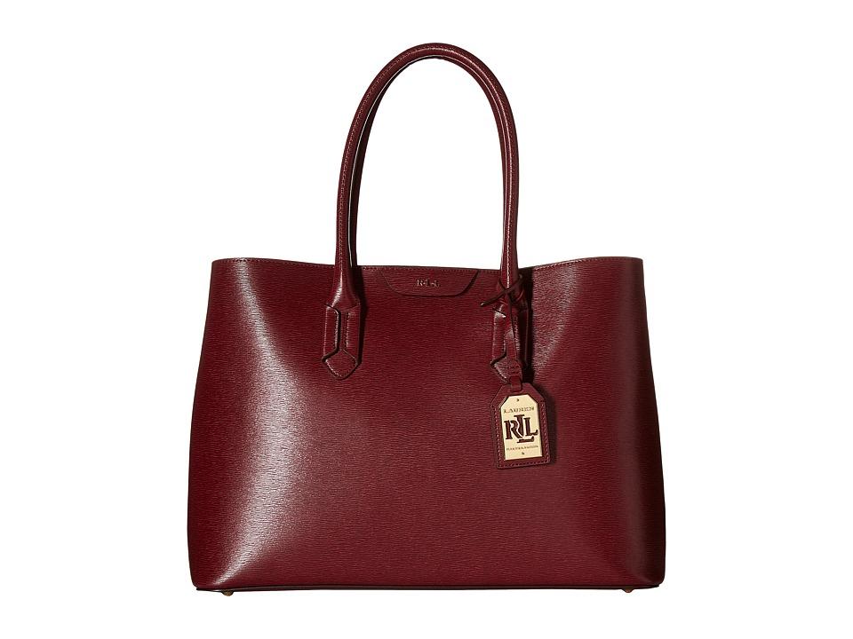 LAUREN Ralph Lauren - Tate City Tote (Rosewood/Cocoa) Tote Handbags