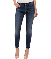 7 For All Mankind - The Skinny w/ Contrast Squiggle & Released Hem in La Palma Blue