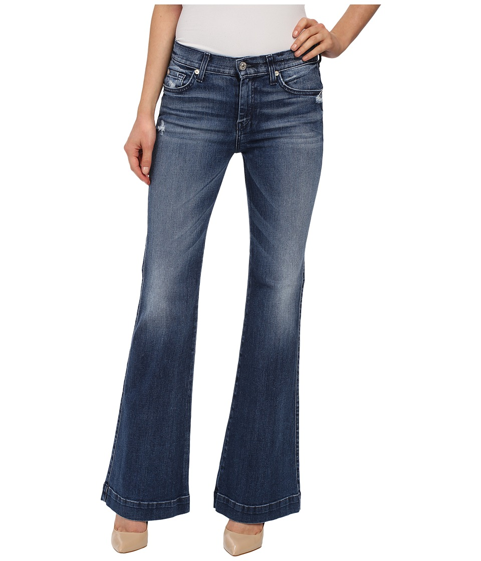 7 For All Mankind Tailorless Dojo in Lake Blue Lake Blue Womens Jeans