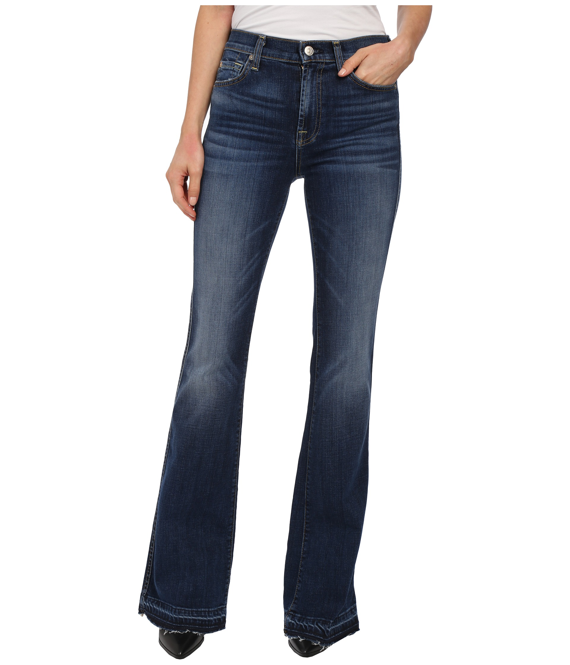 7 For All Mankind High Waist Vintage Bootcut w/ Released Hem in La ...