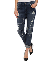 7 For All Mankind - The Relaxed Skinny w/ Patched/Destroyed Vivid Blue
