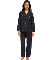 LAUREN by Ralph Lauren - Petite Brushed Twill PJ