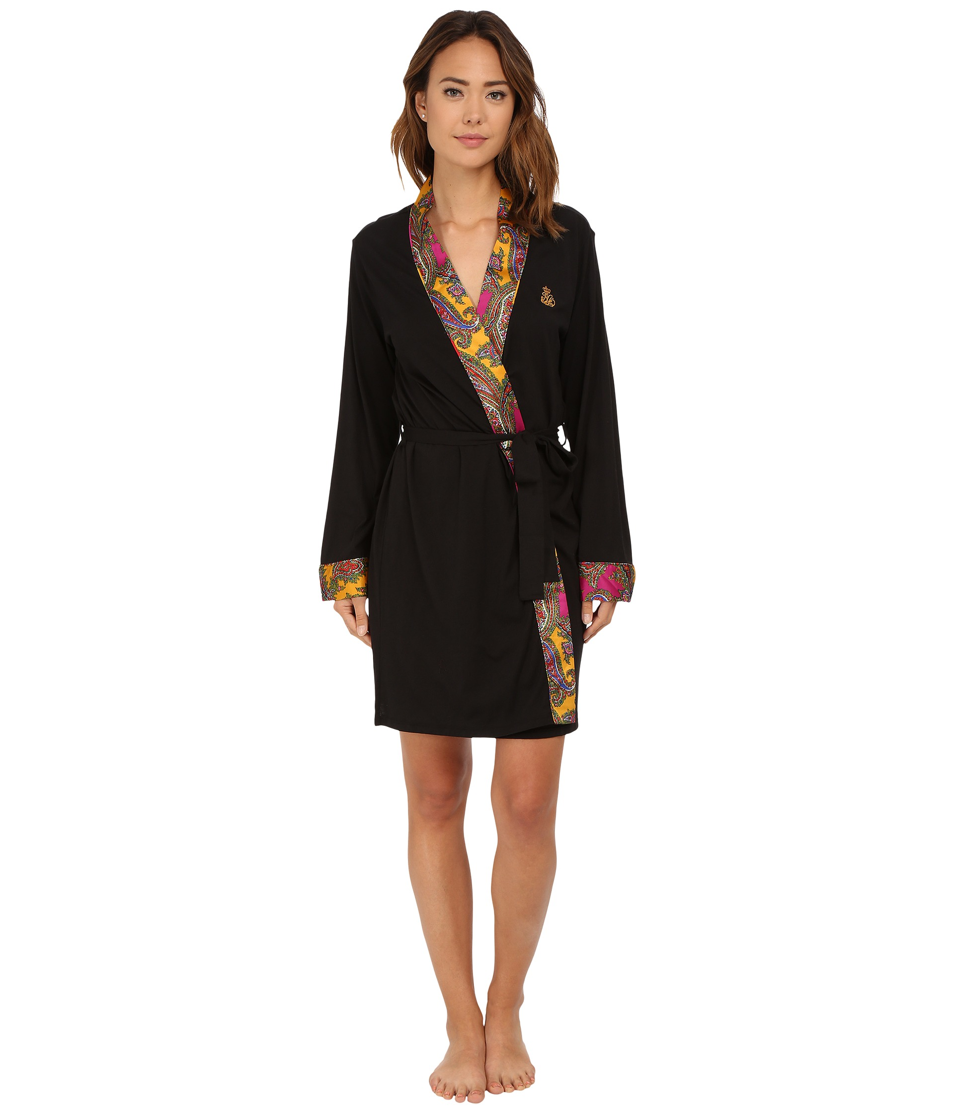 lauren by ralph lauren kimono satin wrap robe free shipping both ways. Black Bedroom Furniture Sets. Home Design Ideas