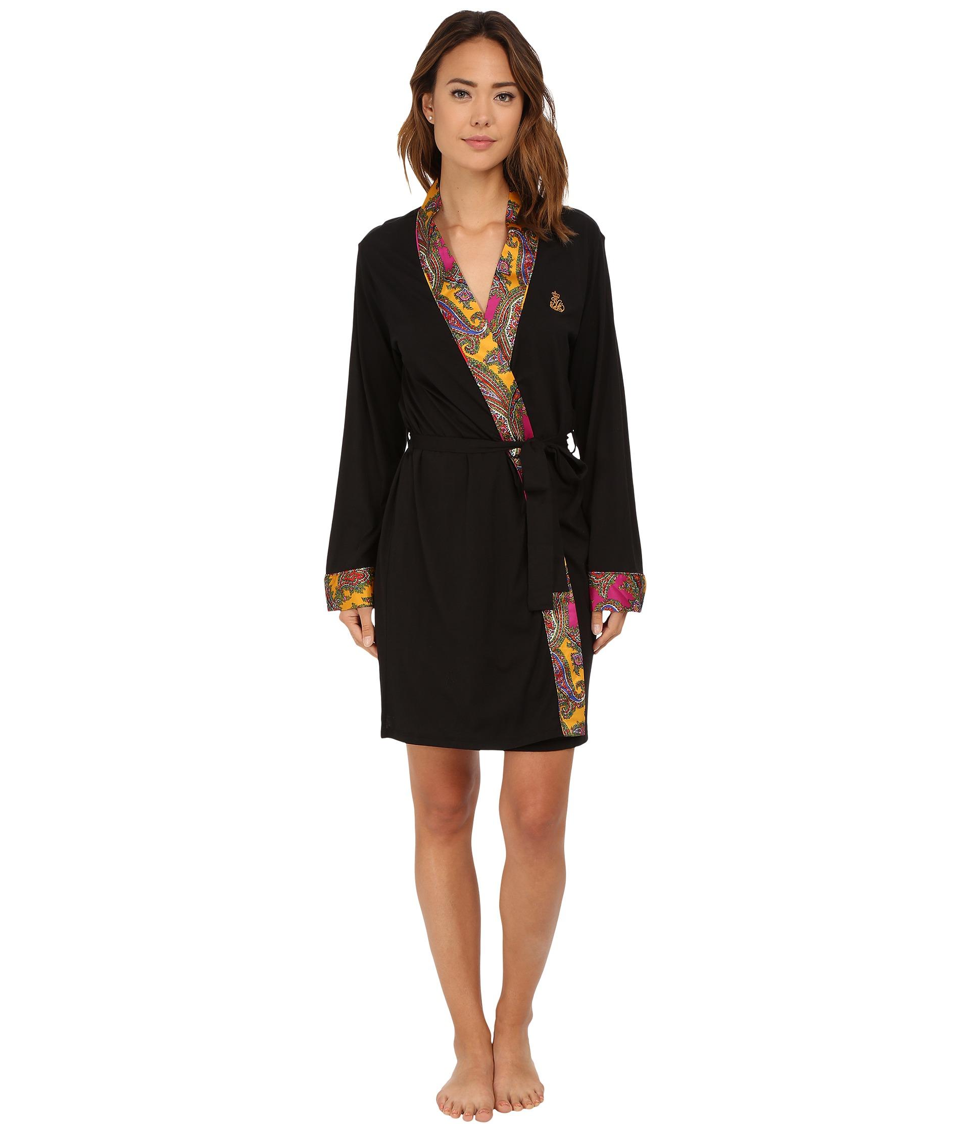 lauren by ralph lauren kimono satin wrap robe free shipping both ways. Black Bedroom Furniture Sets. Home Design Ideas